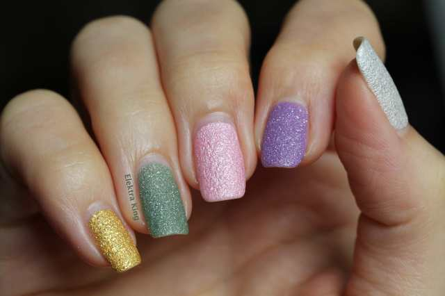 Skittle Manicure with Zoya Pixie Dust Brights and OPI Bond Girls