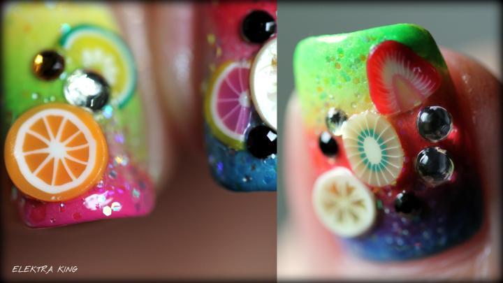 Tropical Fruit Gradient collage