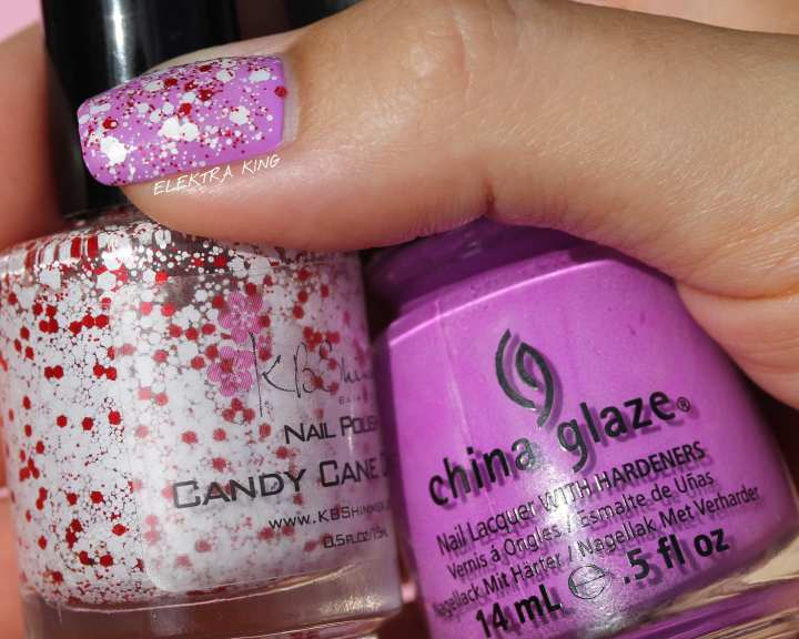 China Glaze Thats Shore Bright KBShimmer CandyCaneCrush