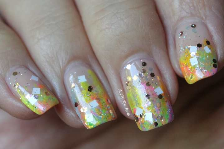 Multicolored Summer Tips