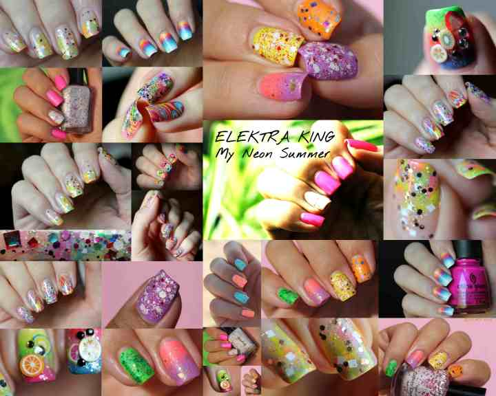 My Neon Summer Manicures by Elektra King