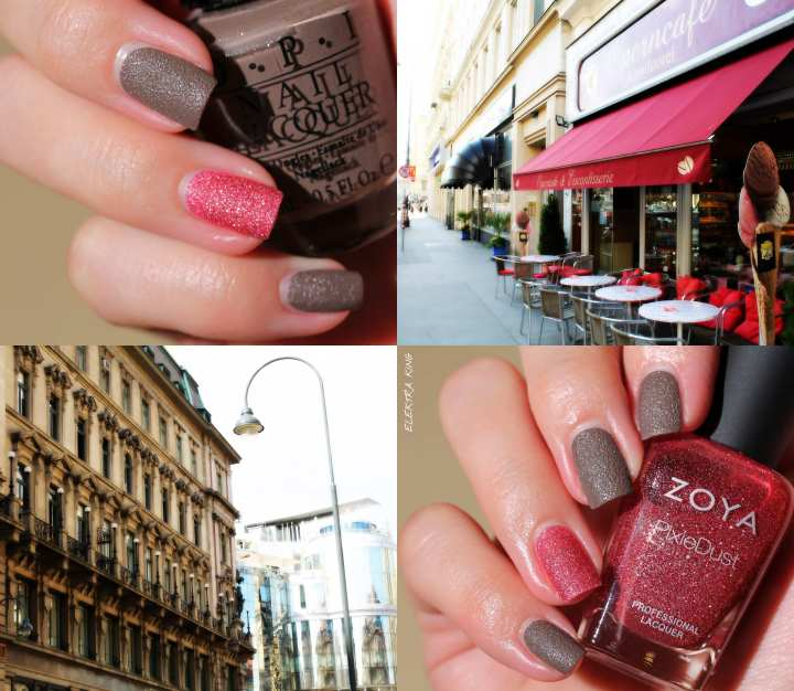 Urban chic manicure OPI It's All San Andreas's Fault
