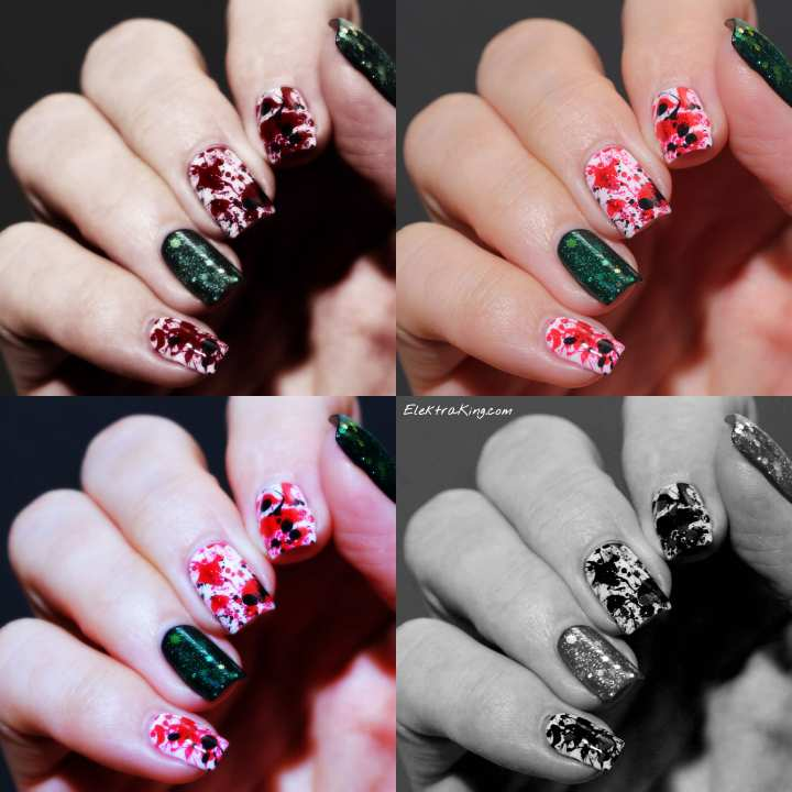 Blood splatter manicure Elektra King