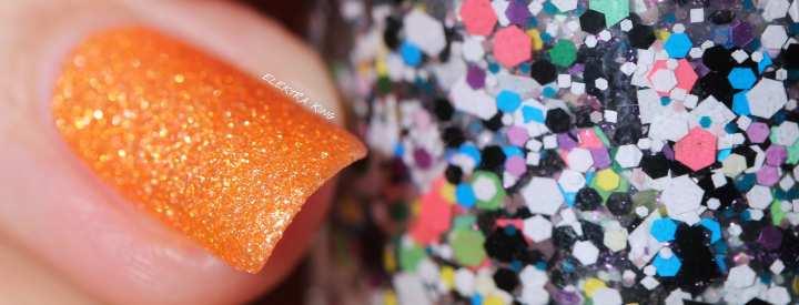 Halloween Skittle Manicure Girly bits Jini Goes Indie