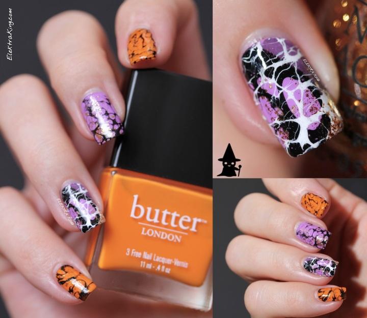 Halloween spider web manicure ElektraKing
