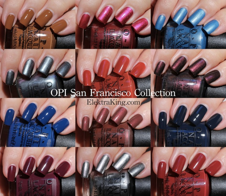 OPI San Francisco Collection Swatches Review