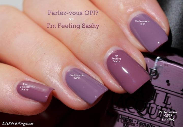 Parlez-vous OPI I'm Feeling Sashy