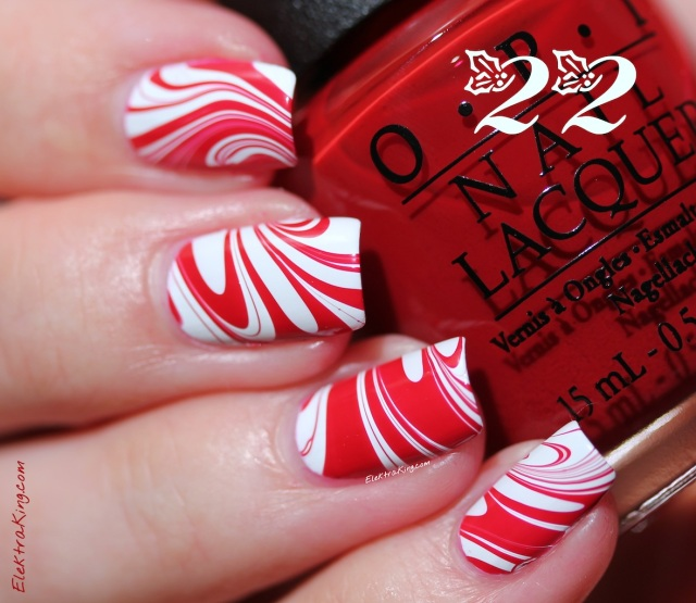December 22 - Candy Cane Water Marble!!! :-)