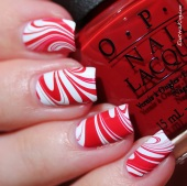 22 20131223 Candy Cane Water Marble 3