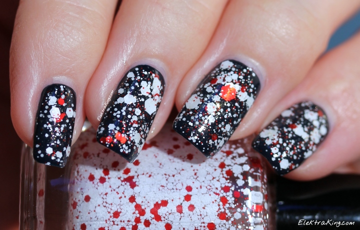 KBShimmer Candy Cane Crush over OPI Incognito In Sausalito