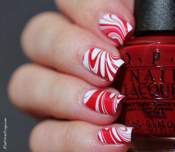 Candy Cane Water Marble