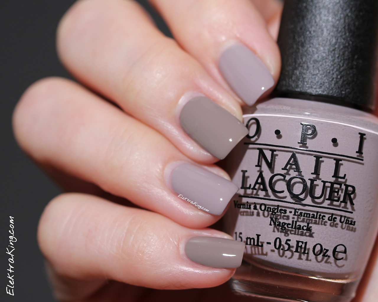 OPI Taupe-less Beach vs OPI Berlin There Done That – Elektra Deluxe