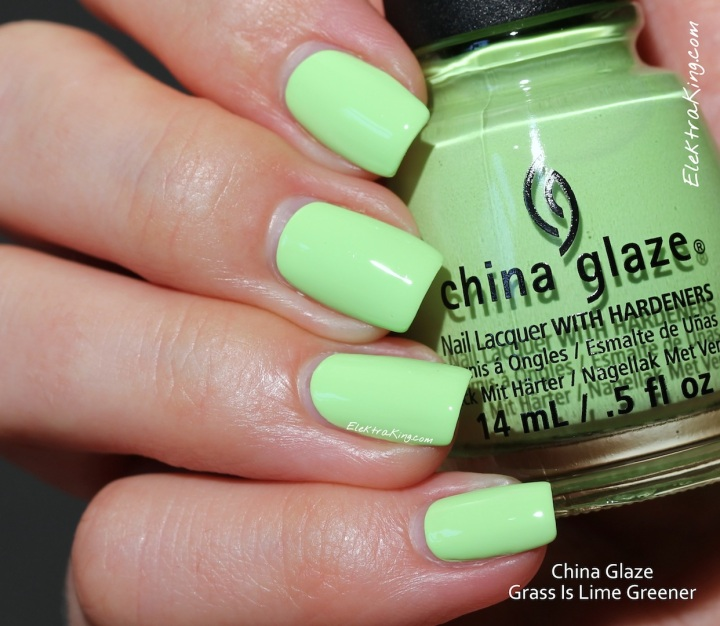 China Glaze Grass Is Lime Greener