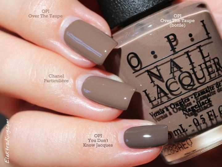 Taupe Nail Polish Comparison