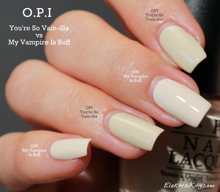 OPI My Vampire Is Buff vs OPI You're So Vain-illa