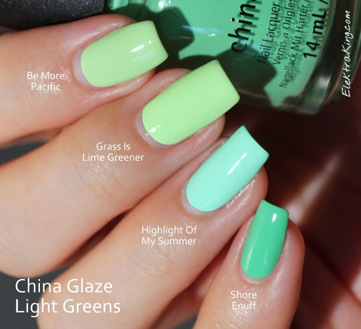 China Glaze Light Greens