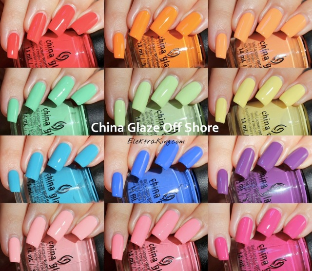 China Glaze Off Shore Summer 2014 - Swatches & Review