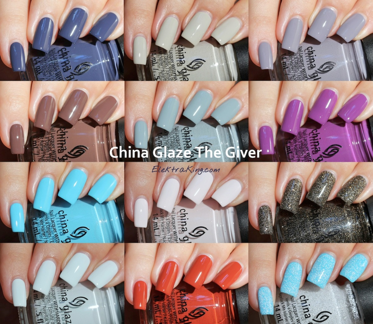 China Glaze The Giver Collection - Swatches & Review