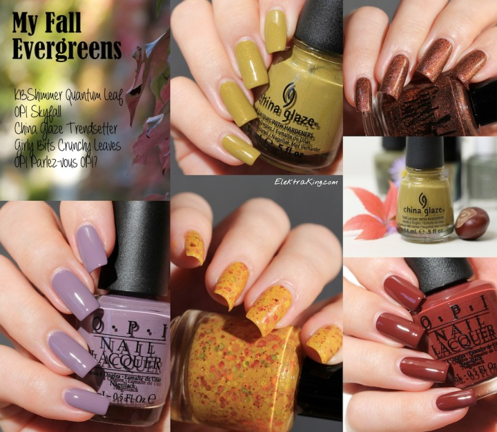 My Fall Evergreens