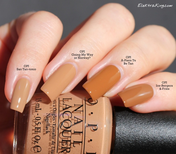 OPI Brown Comparison