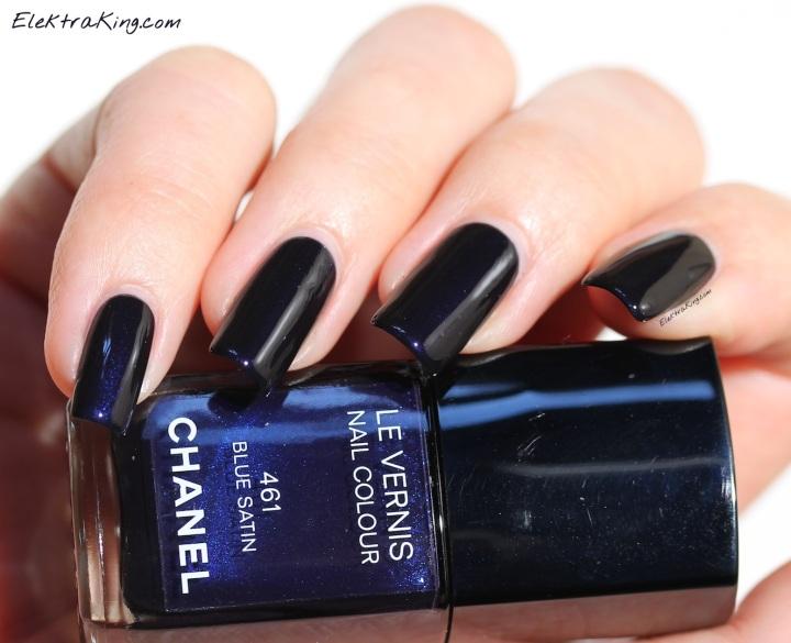 Chanel Blue Satin