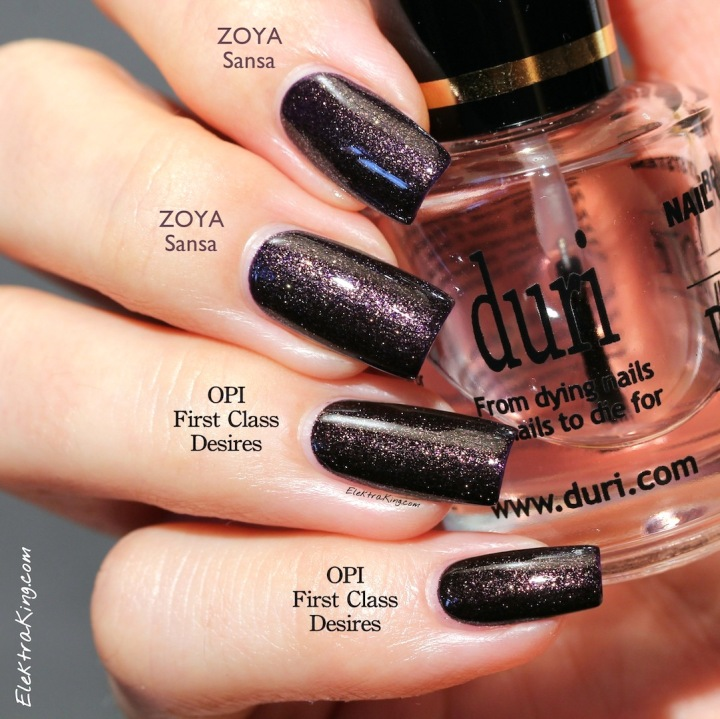 Zoya Sansa vs OPI First Class Desires