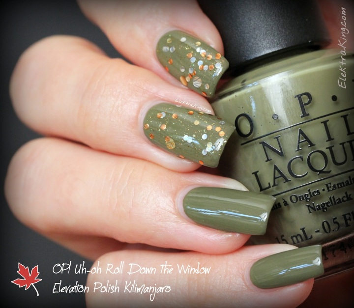 OPI Uh-oh Roll Down the Window, Elevation Polish Kilimanjaro