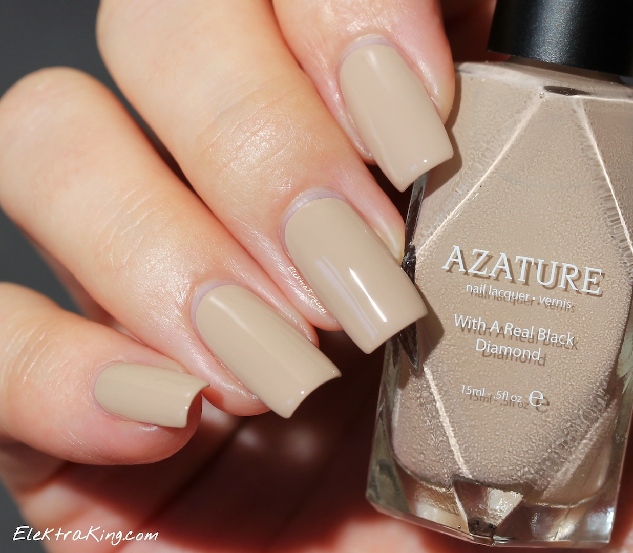 AZATURE Black Diamond Nail Lacquer – Elektra Deluxe