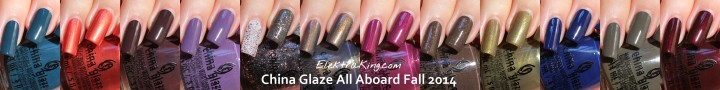 China Glaze All Aboard Fall 2014