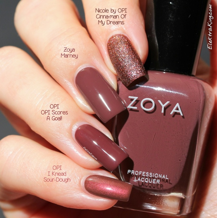 Nail Polish Color Marsala
