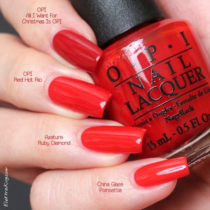 Holiday Red Cream Polishes