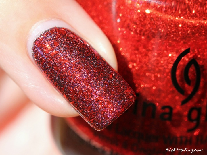 China Glaze Ring In The Red over A England Sleeping Place