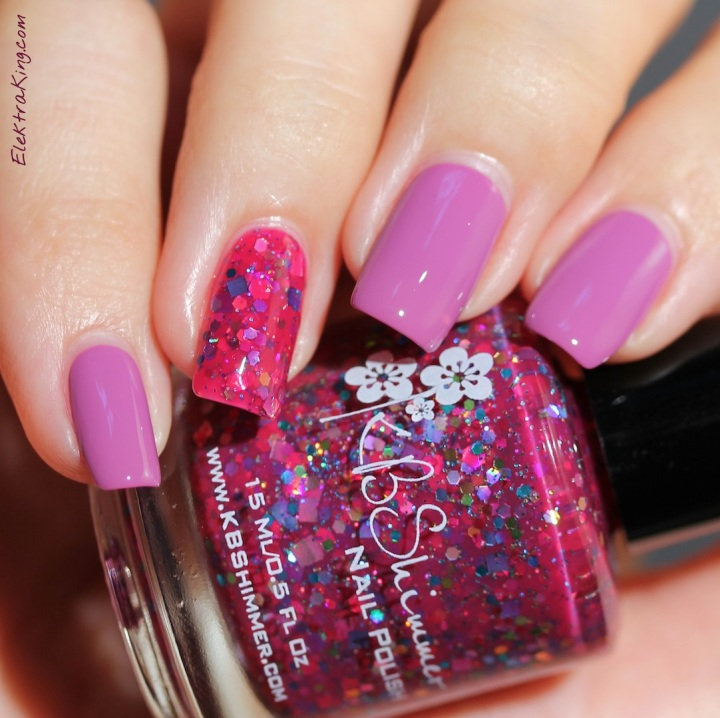 KBShimmer Radiant Orchid & Look High And Holo