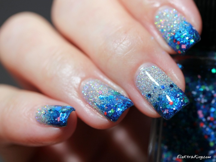 China Glaze Glistening Snow & Lynnderella AquaMan Candy
