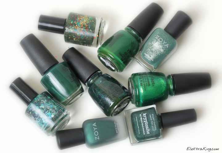 Holiday Green Polishes