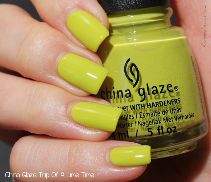China Glaze Trip Of A Lime Time, Road Trip Collection Spring 2015
