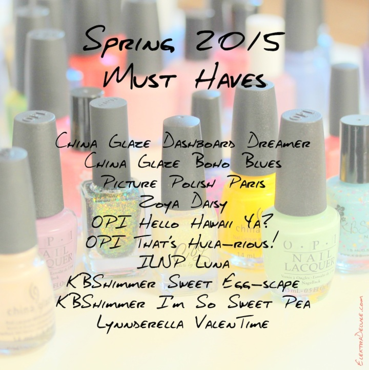 Spring 2015 Must Have Nail Polishes