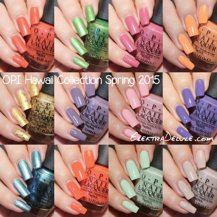 OPI Hawaii Collection Spring 2015