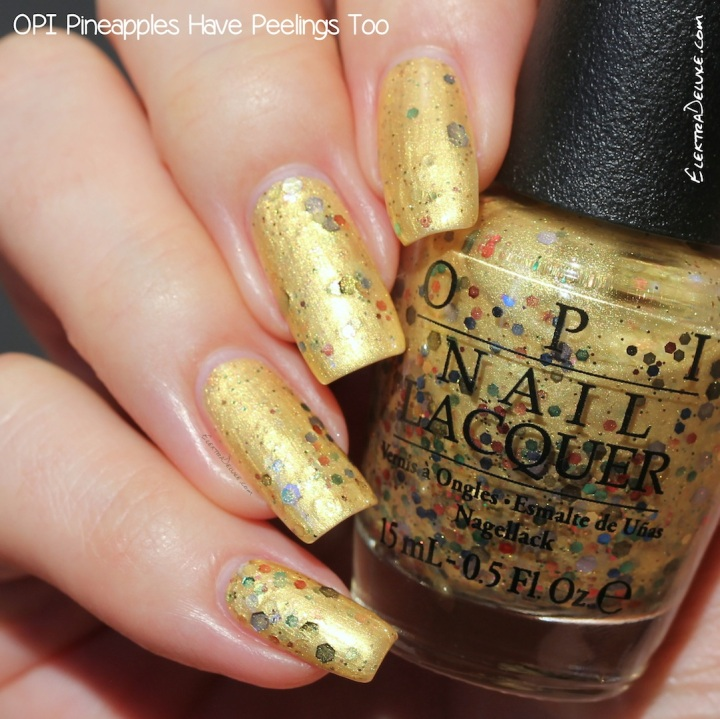 OPI Pineapples Have Peelings Too, Hawaii Collection Spring 2015