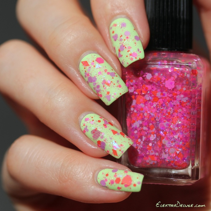 Lynnderella Like Love over OPI That's Hula-rious!