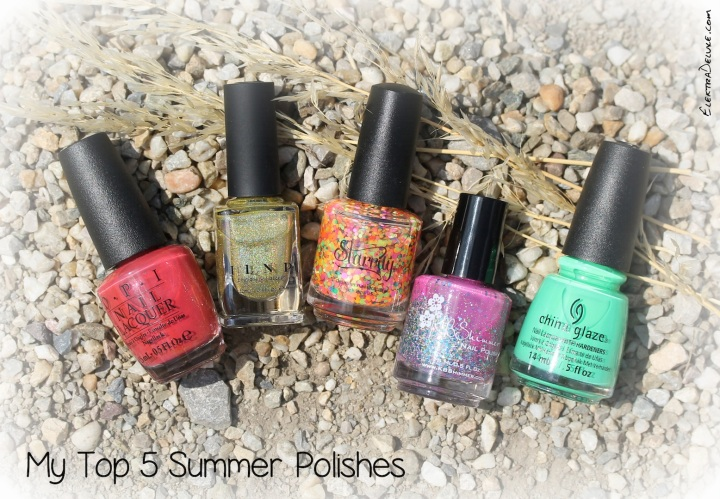 My Top 5 Summer Polishes 2015: KBShimmer Pink-a Colada, China Glaze Treble Maker, Starrily Gumballs, ILNP Money Bin, OPI Go With The Lava Flow