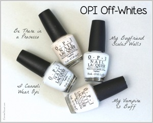 OPI My Boyfriend Scales Walls, My Vampire is Buff, I Cannoli Wear OPI, Be There in a Prosecco