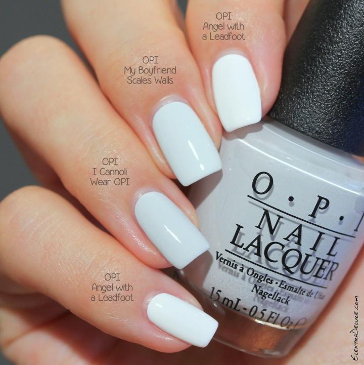 OPI I Cannoli Wear OPI (Venice Fall 2015) vs OPI My Boyfriend Scales Walls vs OPI Angel with a Leadfoot