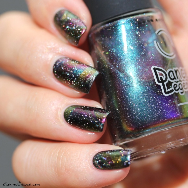 Multichrome Watermarble with Dance Legend Milky Way, Comet Tail, Solar Eclipse and Protuberance