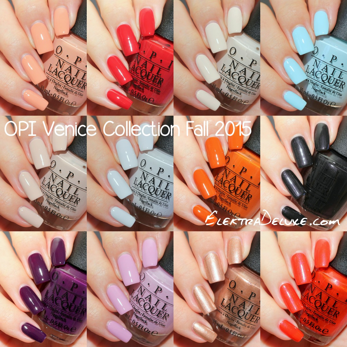 OPI Venice Collection Fall 2015 - Swatches & Review