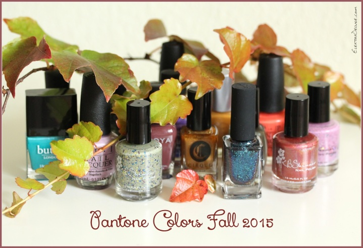 Pantone Colors Fall 2015 - Nail Polish Edition