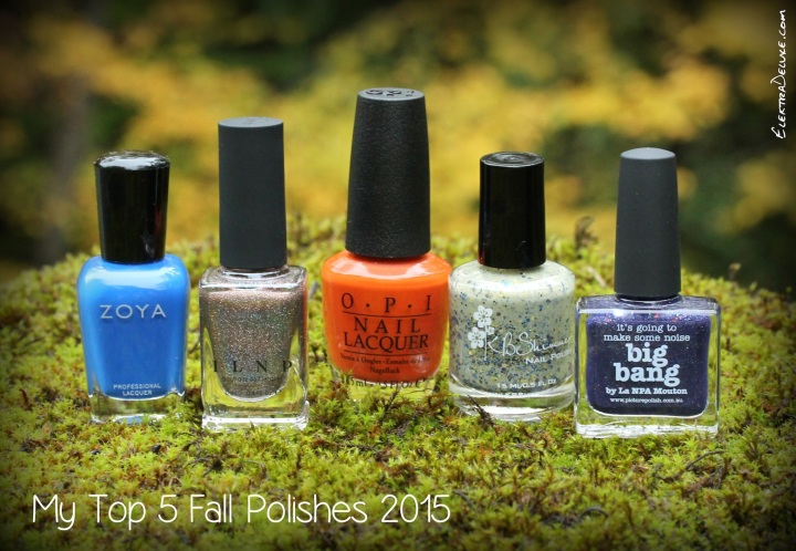 My Top 5 Fall Polishes 2015: ILNP Mona Lisa, KBShimmer Open Toad Shoes, OPI It's a Piazza Cake, Picture Polish Big Bang, Zoya Sia
