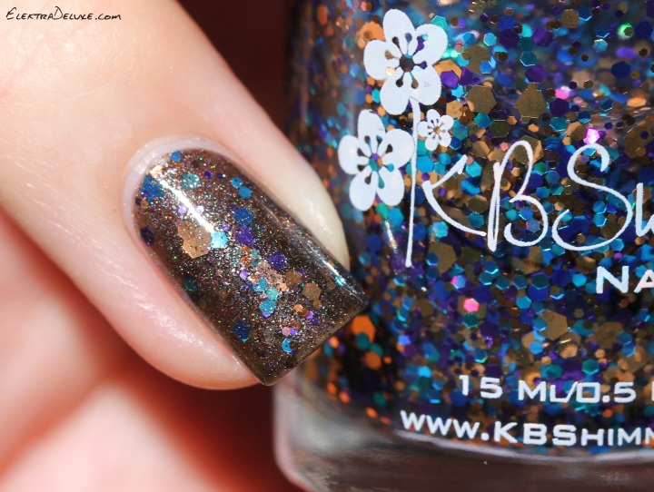 SuperChic Lacquer Bedtime Nom Noms for Mr. Wolf & KBShimmer Bejeweled