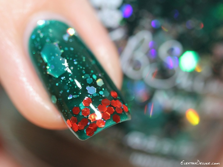 KBShimmer Green Hex And Glam & Milani Red