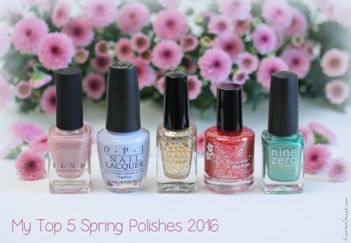 My Top Five Spring Polishes 2016: ILNP Sweet Pea, OPI I Am What I Amethyst, FUN Lacquer King, KBShimmer Ruby, Nine Zero Lacquer March 2016
